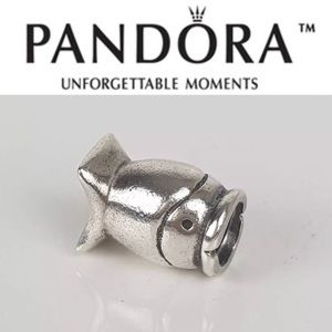 790113 Rare Retired Pandora Sideways Fish